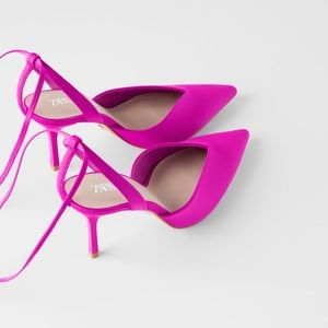 Zara Low Vamp Heeled Shoes